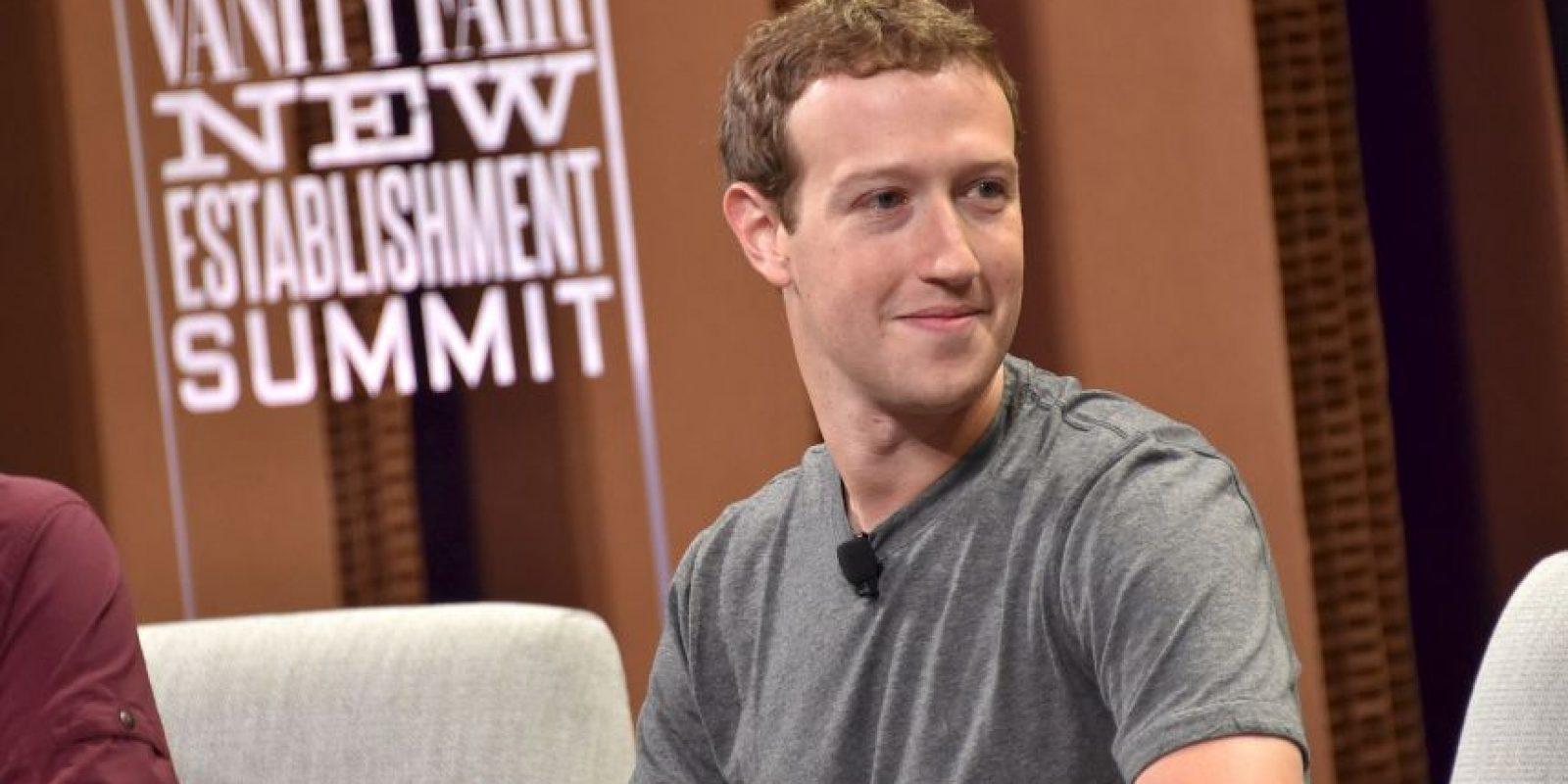 6. Mark Zuckerberg. Tiene una fortuna evaluada en 44 mil 600 millones de dólares. Su compañía: Facebook Foto:Getty Images