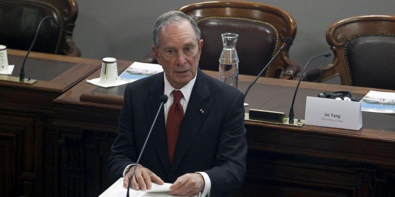 Michel Bloomberg. Quien tiene una fortuna evaluada en 41 mil millones de dólares. Su compañía, Bloomberg LP. Foto:Getty Images