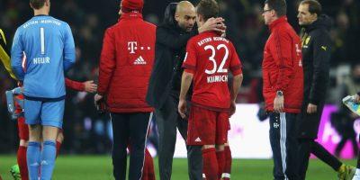 Al final, Pep le dio un abrazo. Foto:Getty Images