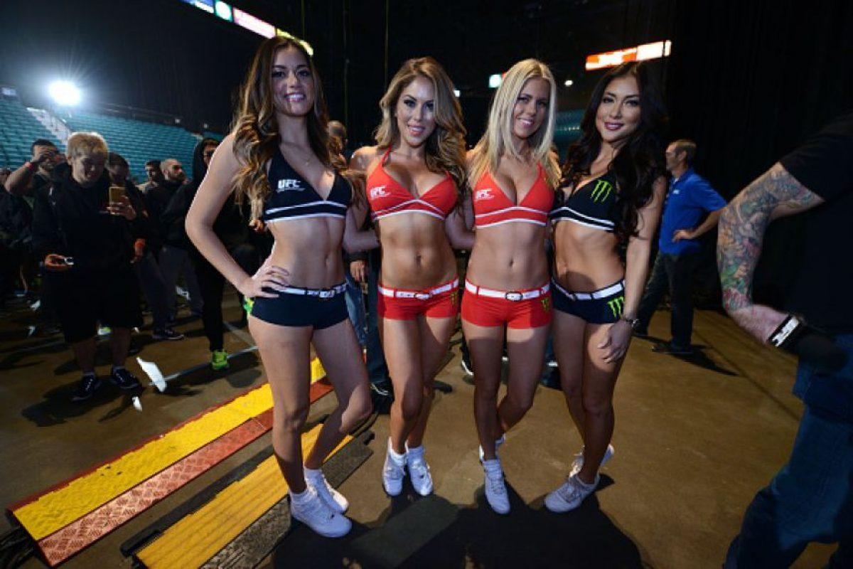 """Ellas fueron las cuatro """"Octagon Girls"""" presentes en UFC 196. Foto:Getty Images"""