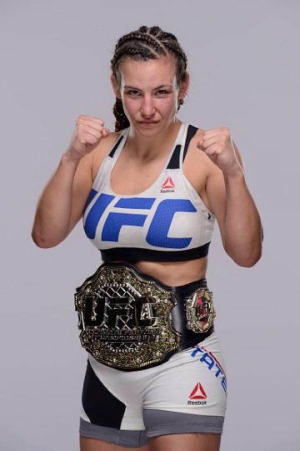 """Miesha Tate se convirtió en la nueva campeona al derrotar a """"La Hija del Predicador"""" en UFC 196. Foto:Getty Images"""