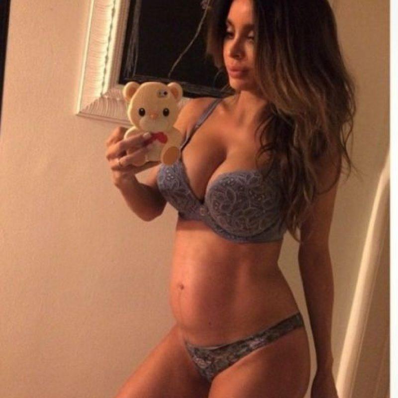 Luego de su embarazo prácticamente lucía normal. Foto:vía Instagram