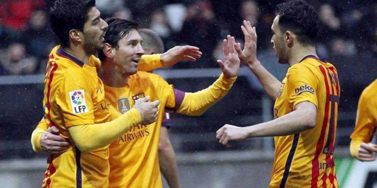Leo Messi guía nueva goleada del Barcelona