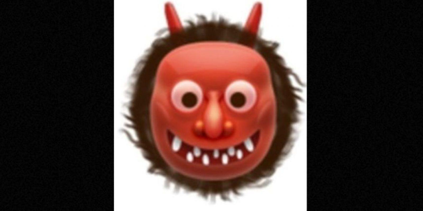 También usado para representar al demonio, aunque en verdad es un ogro japonés. Foto: emojipedia.org