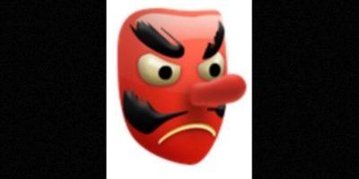Es utilizado como el diablo, aunque solamente es una máscara japonesa de un duende Foto: emojipedia.org