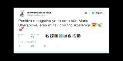 Miren las reacciones en las redes del doping de Maria Sharapova Foto:Twitter
