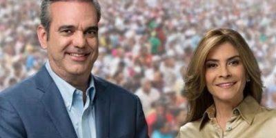 Luis Abinader y Carolina Mejía Foto:Fuente Externa