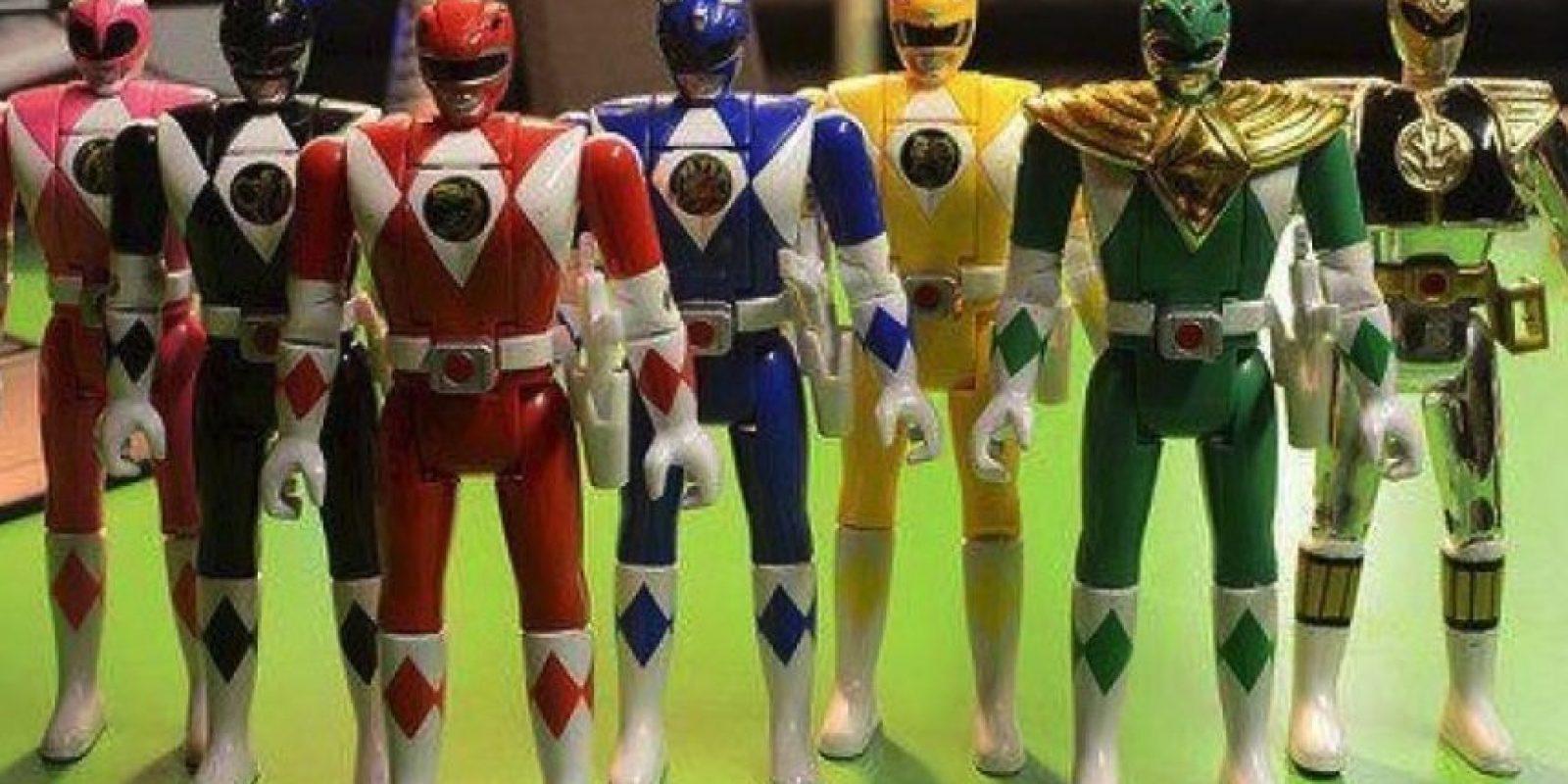 """Las figuras de acción de los """"Power Rangers"""" Foto:Instagram"""