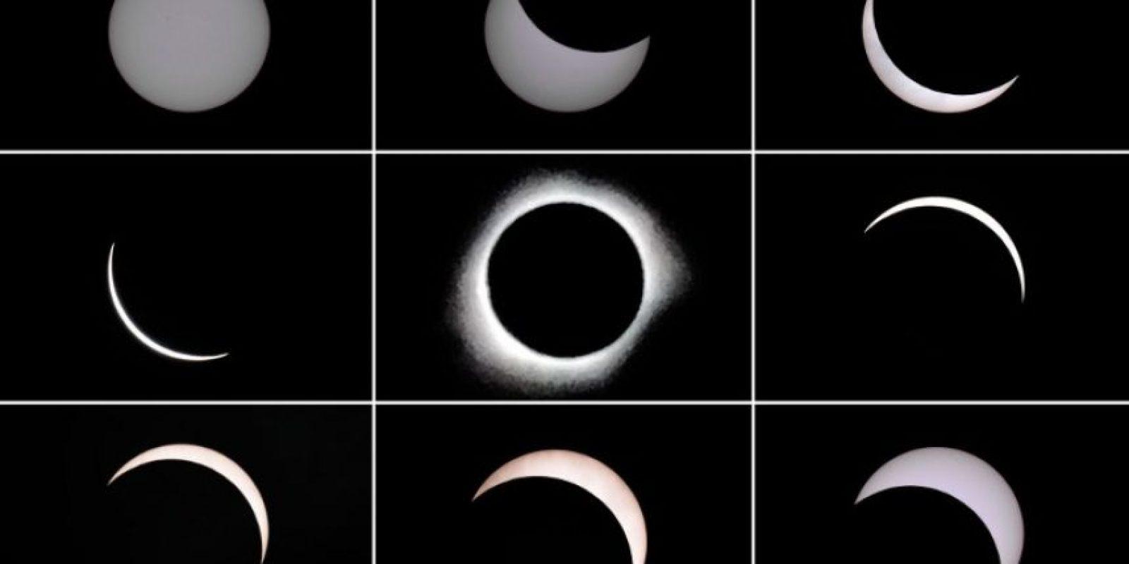 Así fue la trayectoria de la Luna frente al Sol. Foto:AFP
