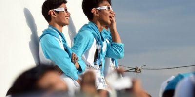 Pasajeros abordo cruceros se reunieron para ver el fenómeno. Foto:AFP