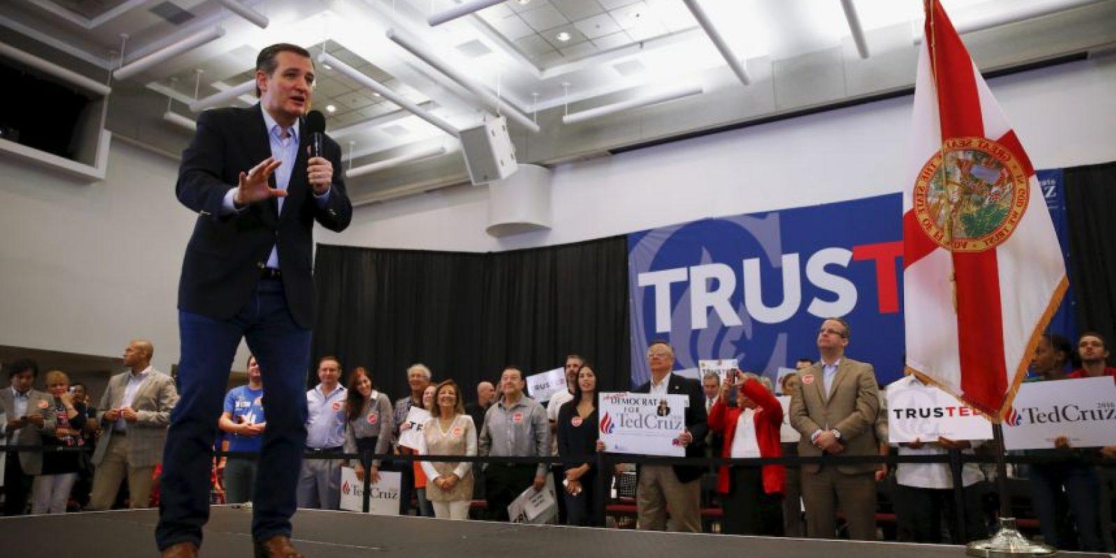 Su oponente más poderoso es Ted Cruz. Foto:AP