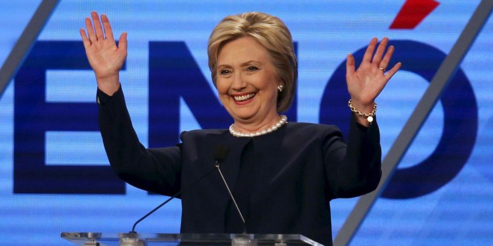 Clinton encabeza la contienda con 13 estados a su favor Foto:AFP