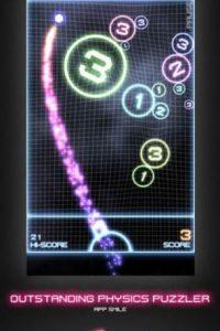 Orbital es un juego adictivo en el que deberán destruirlo todo solo con el pulgar. Foto:bitforge Ltd