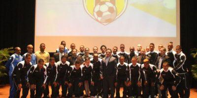 Equipo del Moca FC para la temporada del 2016 en la liga Dominicana de Fútbol (LDF Popular). Foto:Fuente externa