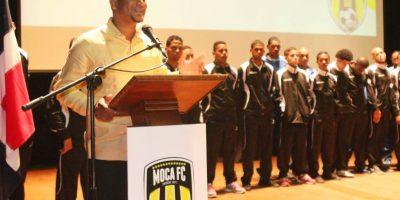Ronald Batista dirigente del Moca FC Foto:Fuente externa