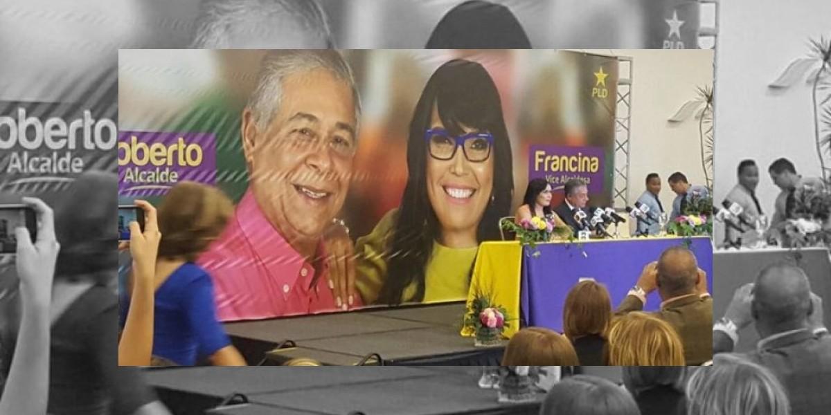 Anuncian a Francina Hungría la nueva compañera de boleta de Roberto Salcedo