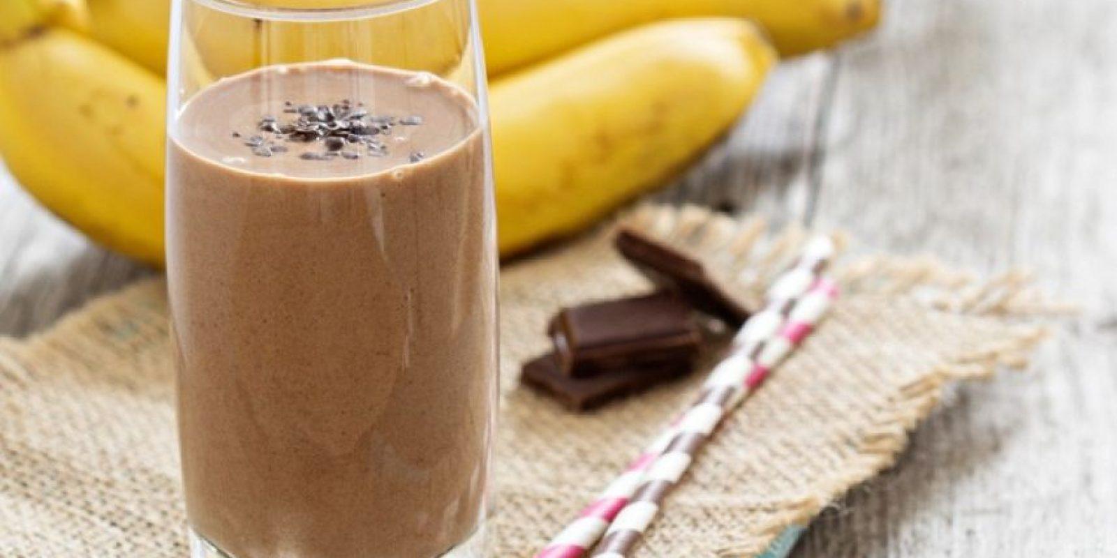 Smoothie de chocolate y guineo Foto:Fuente Externa