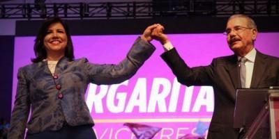 Inscribirán esta tarde candidatura de Danilo y Margarita
