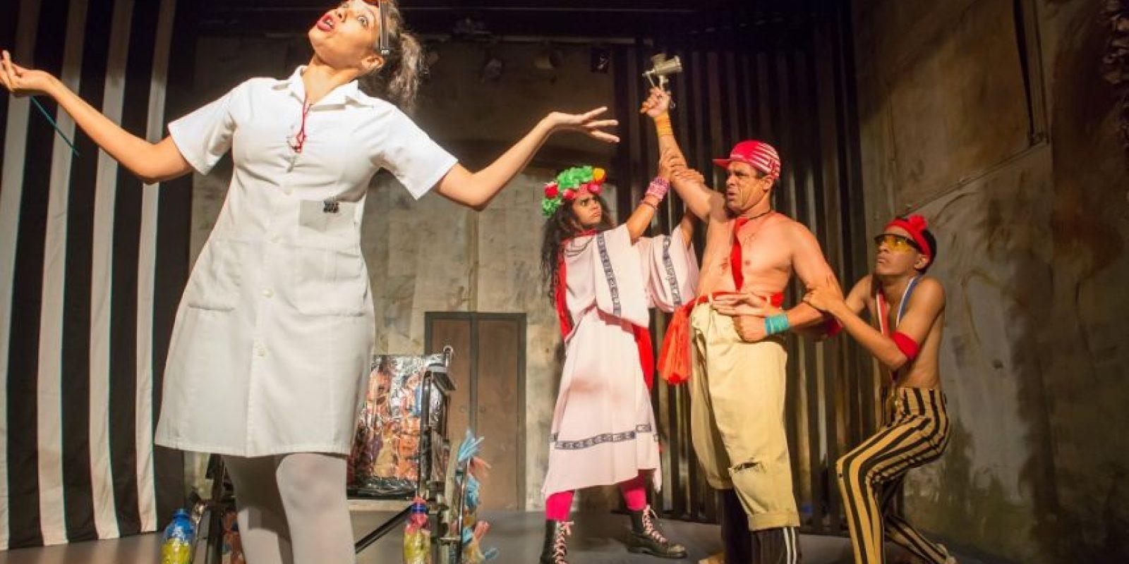 Imagen de la recreación de la obra El 28, parte del repertorio original del teatro. Foto:Fuente externa