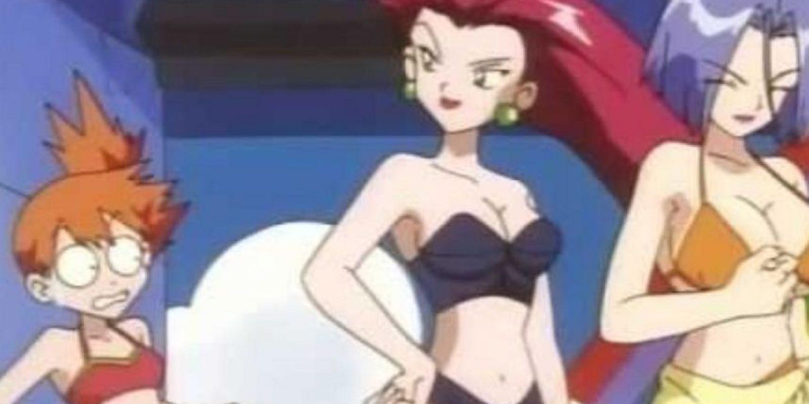 En un episodio censurado, el villano James (del Equipo Rocket) usa un bikini. Foto:Twitter