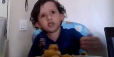 Este niño brasileño de 3 años hizo que su mamá llorara explicando por qué no era bueno comer animales. Foto:Vía YouTube