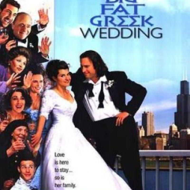 """""""Mi Gran Boda Griega"""" era la película que narraba cómo una joven griega, """"Toula"""", se casaba con un hombre estadounidense y causaba un choque cultural. Foto:vía IFC Films"""