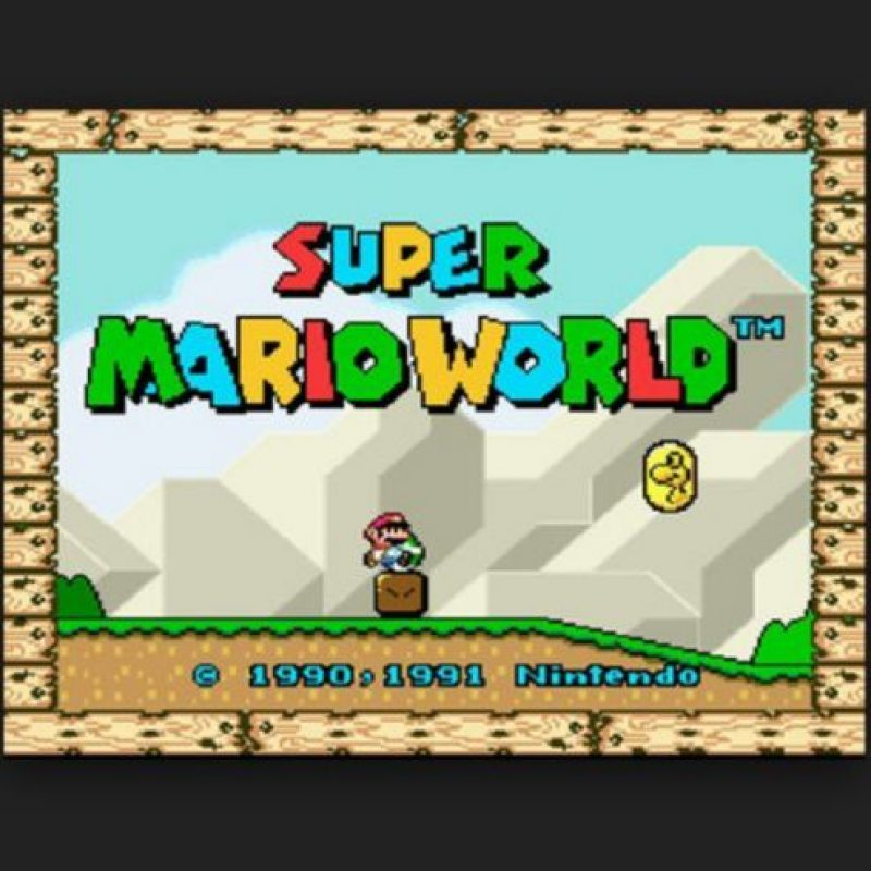 "1.- ""Super Mario World"" para Super Ness. Foto: Nintendo"