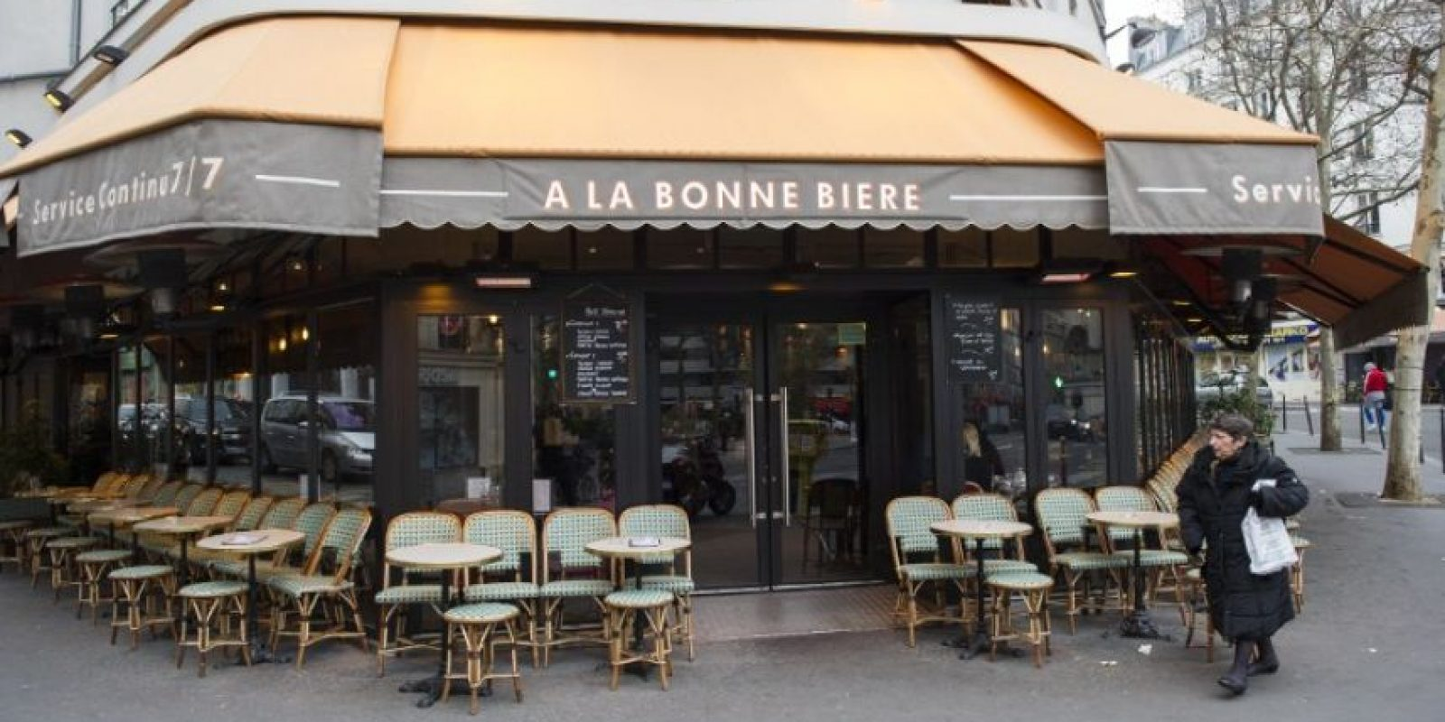 """La cafetería """"A la Bonne Bierre"""" Foto:AFP"""