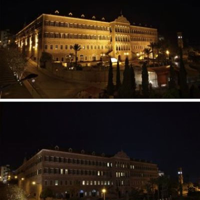 Instalaciones gubernamentales en el centro de Beirut, Líbano Foto:AP