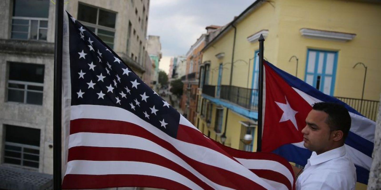 Además de que las banderas de barras y estrellas de ambas naciones ya ondean a lo largo y ancho de La Habana Foto:Getty Images