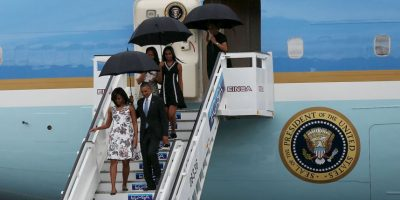 Barack Obama y su familia llegaron a Cuba en el Air Force One, que aterrizó a las 16:19 hora local Foto: Getty Images