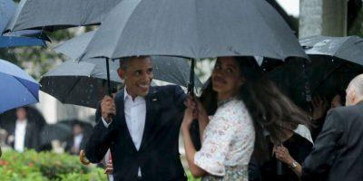 5. A pesar de la intensa lluvia, los Obama dieron un paseo por La Habana Vieja Foto:Getty Images