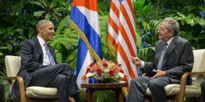 El histórico encuentro se dio en el Palacio de la Revolución. Foto:AP