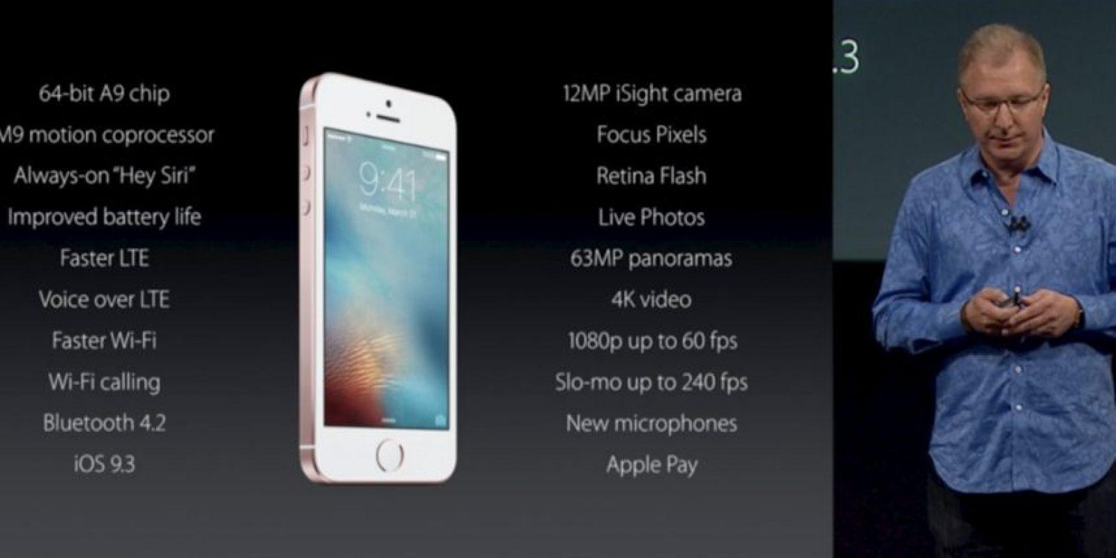 El momento donde se daban las características completas del nuevo celular de Apple. Foto:Apple