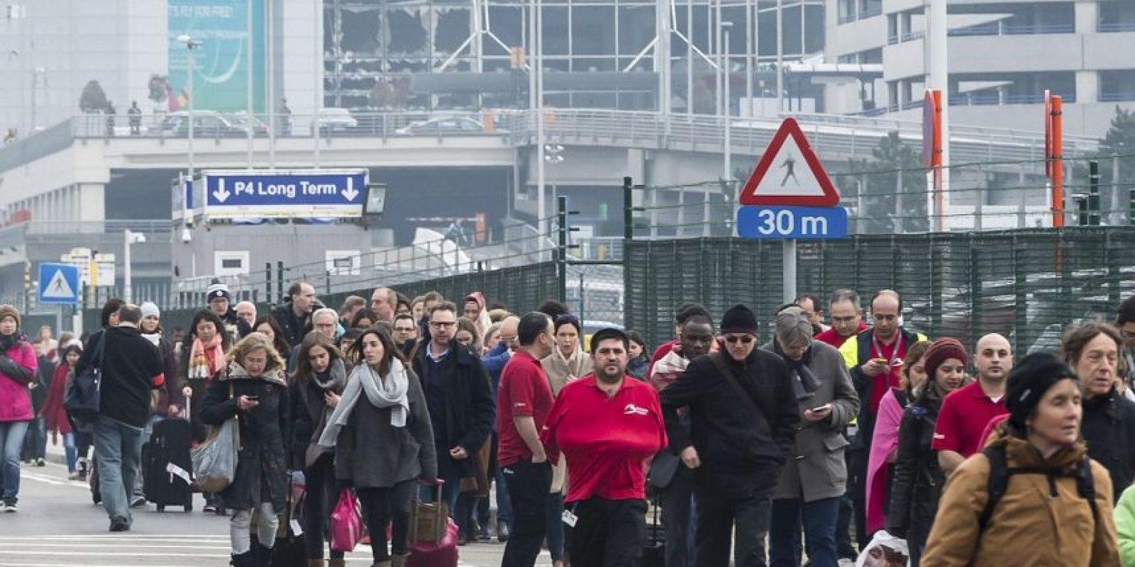 Imágenes del atentado en Bruselas Foto:AFP