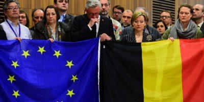 En la sede de la Unión Europea, que está en Bruselas, como en diversos sitios se llevaron a cabo homenajes Foto:AFP