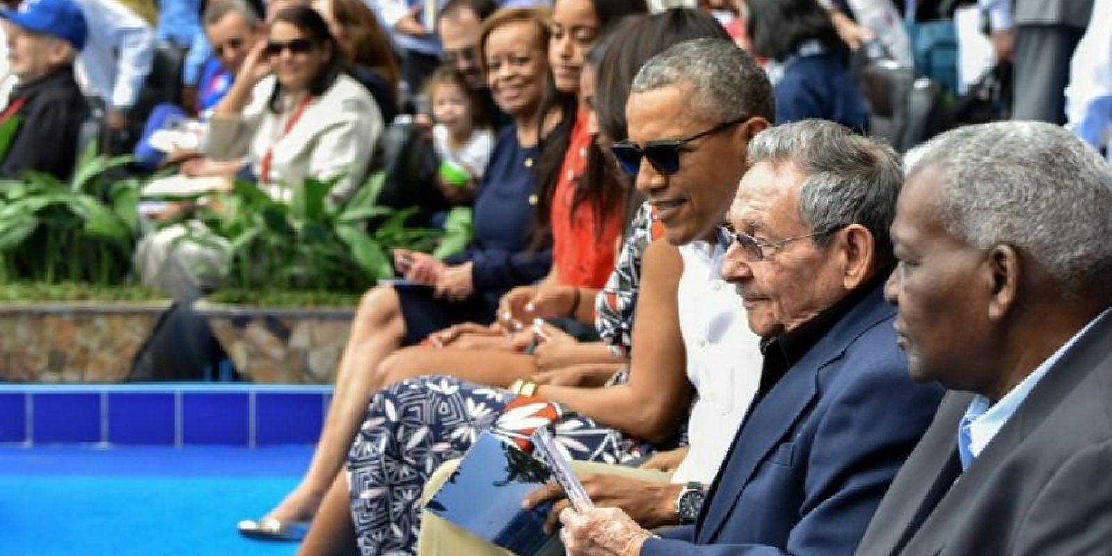 Fueron acompañados por Raúl Castro. Foto:AFP