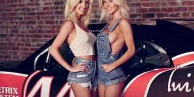 Las primeras gemelas en competir en la Nascar Foto:Maxim