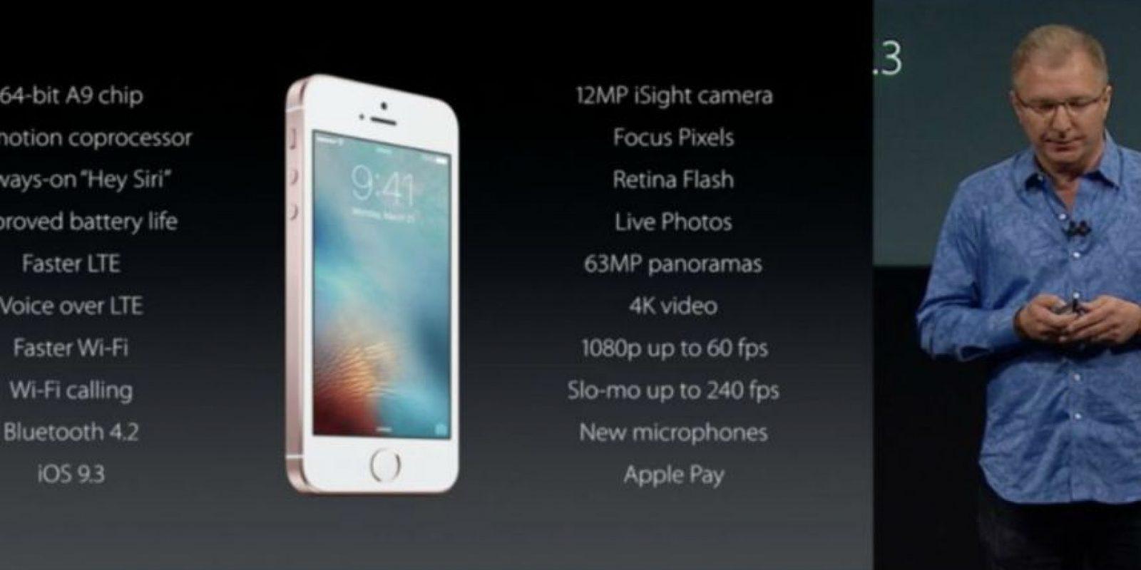 Características del iPhone SE. Foto:Apple