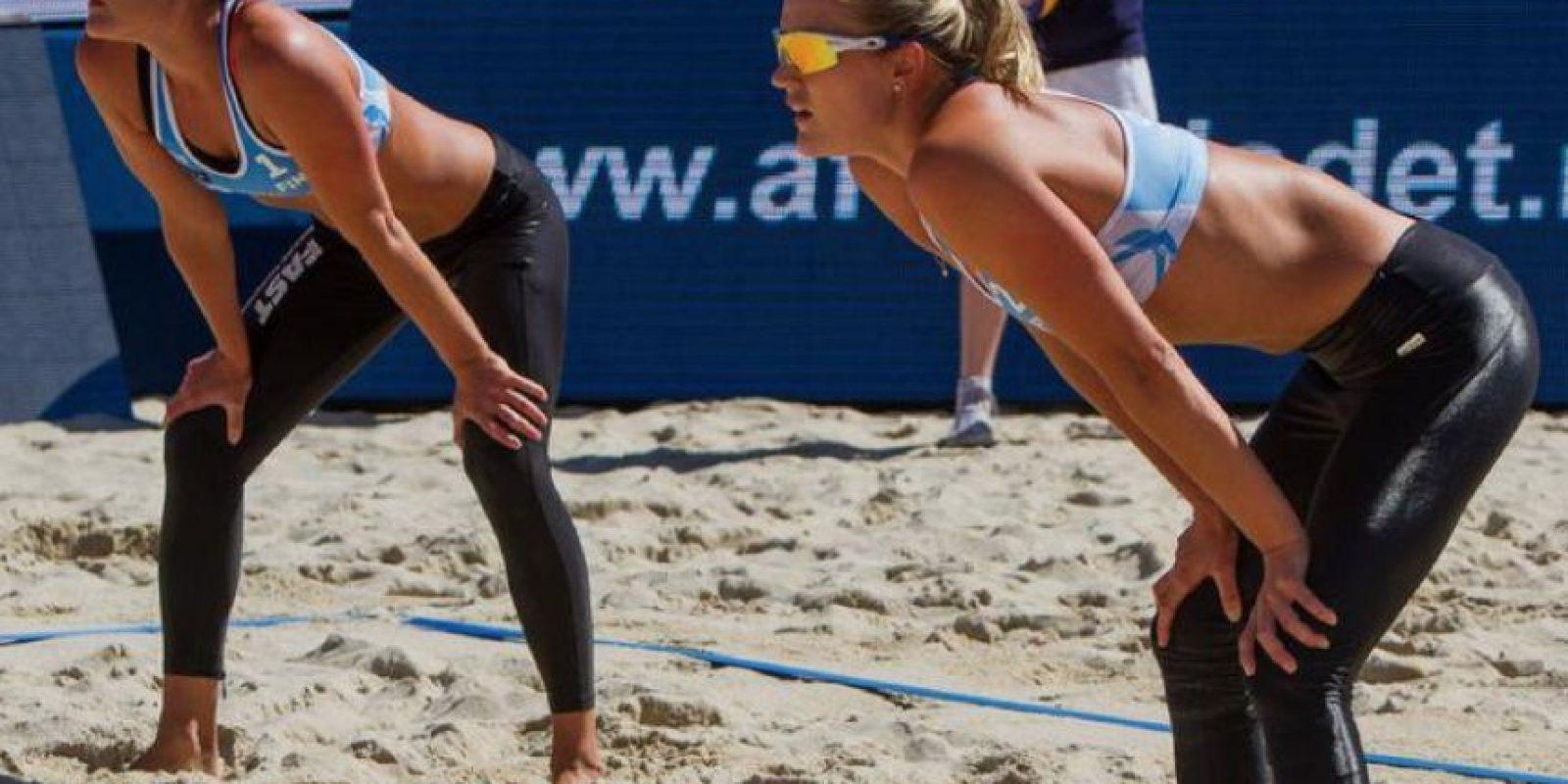 Finlandesas que juegan voleibol de playa profesional Foto:Vía twitter.com/nystrom_emilia