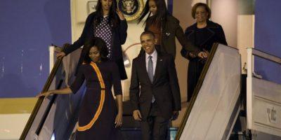 Malia y Sasha Obama en Argentina. Foto:AFP