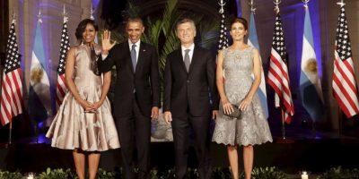 El miércoles por la noche Mauricio Macri ofreció una cena en honor a Barack Obama. Foto:AP