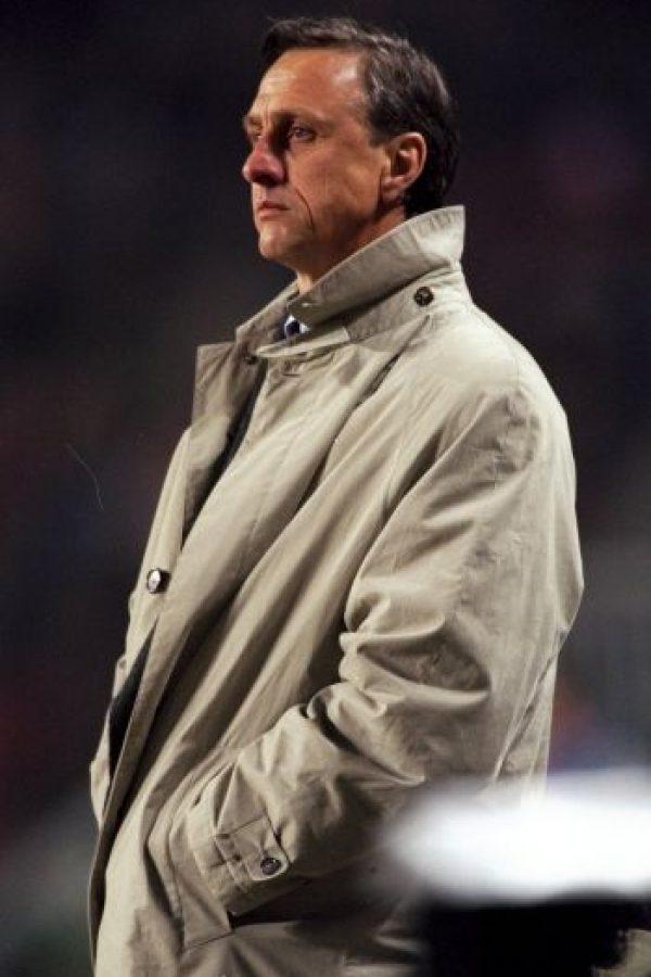 6. Su nieto es futbolista. Jesjua Angoy Cruyff jugó en Barcelona y el Wigan inglés Foto:Getty Images