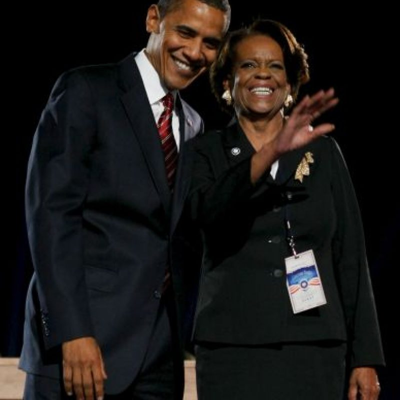 Mrs R y los Obama. Foto: Getty Images