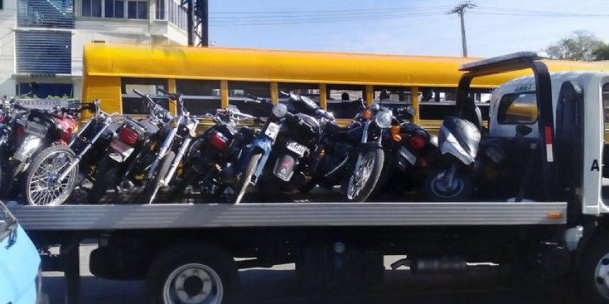 Amet retiene más de 800 motocicletas por violar ley de tránsito