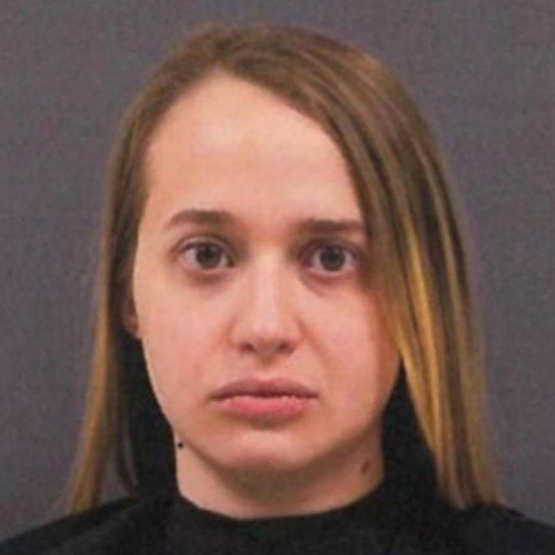 Hannah Marie Haynes envió un video en el que mantiene relaciones sexuales con un canino. Foto:Cherokee County Police