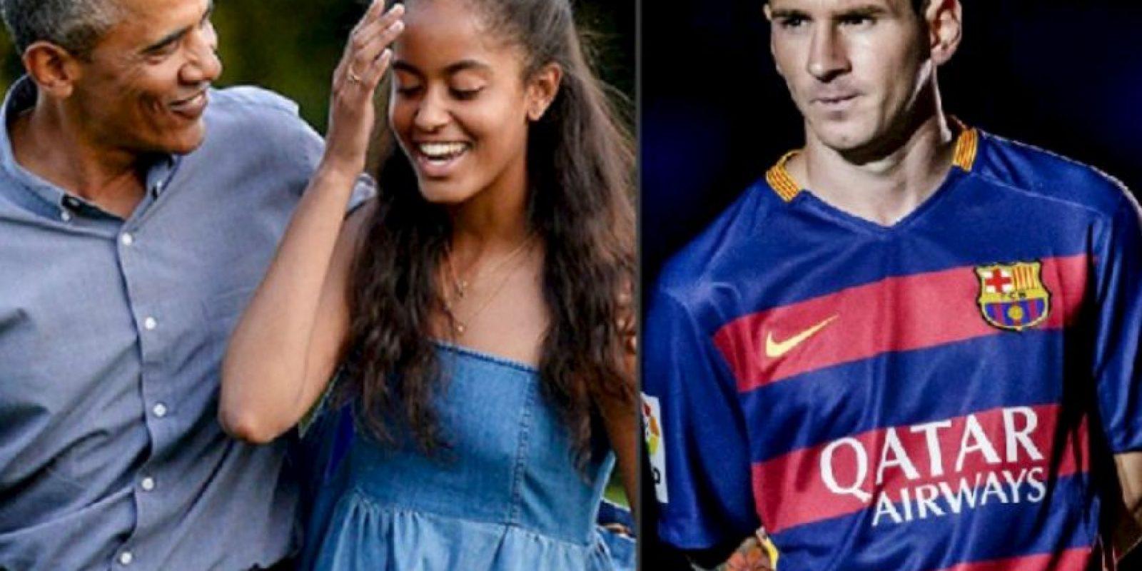 Barack Obama y sus hijas quieren conocer en persona a Lionel Messi Foto:Getty Images