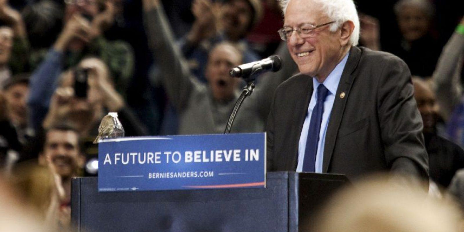 Y reduce la desventaja que tiene con Hillary Clinton Foto:Getty Images