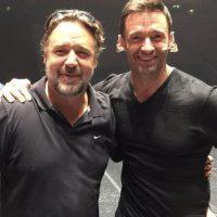 Jackman también cuenta con buenos amigos como Russell Crowe… Foto:vía instagram.com/hughjackman