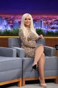 Acá como Donatella Versace. Foto:vía Getty Images